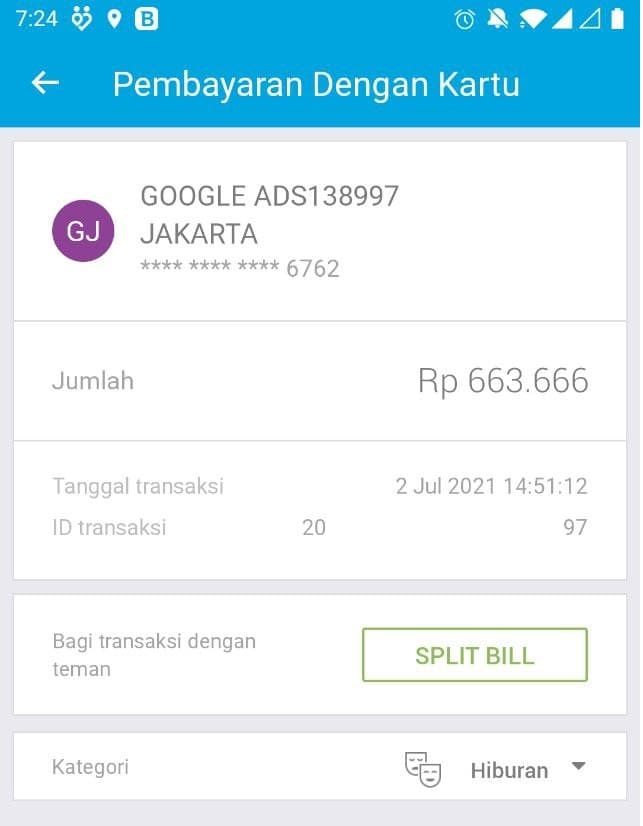 payment with Jenius